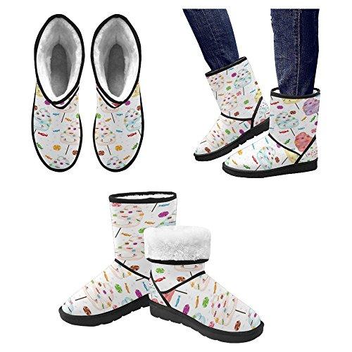 Snow Stivali Da Donna Di Interestprint Design Unico Comfort Invernale Stivali Dolci E Stelline Multi 1