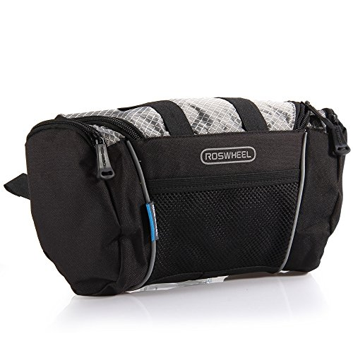 Price comparison product image DIDEMI Roswheel 5L Bike Handlebar Bag Bicycle Front Tube Pocket Shoulder Pack Riding Cycling Supplies (Grey)