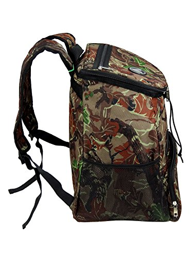 Large Padded Backpack Cooler - Fully Insulated, Leak and Water Resistant, Adjustable Shoulder Straps, Extra Storage Pockets - Camo - by GigaTent by GigaTent (Image #7)