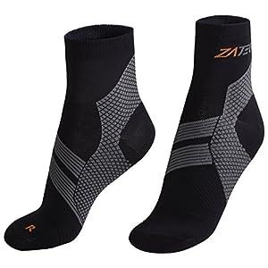 Compression Socks (Black/Gray, Large)
