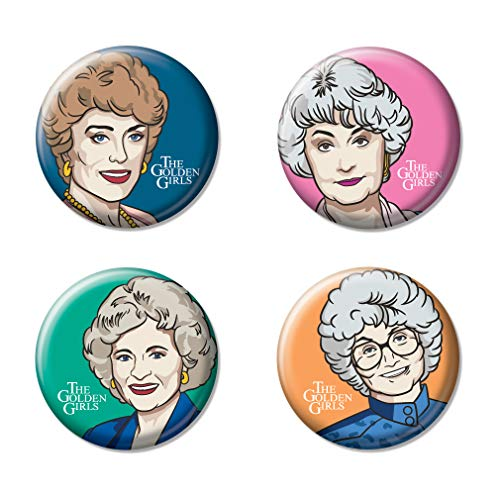 Ata-Boy The Golden Girls Character Drawings Set of 4 1.25