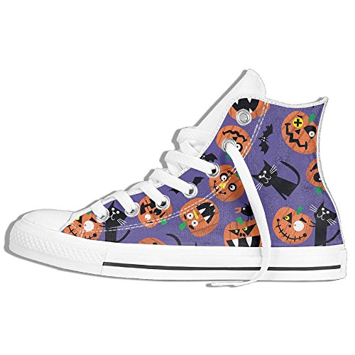 FAIRY Classic Lace Up High Top Canvas Shoes Happy Halloween Sneaker For Men Women
