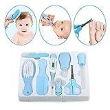 8pcs Convenient Daily Baby Nail Clipper Scissors Hair Brush Comb Manicure Care Kit(Blue)