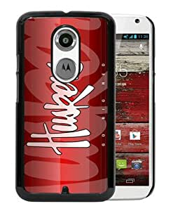 Beautiful Classic Ncaa Big Ten Conference Football Nebraska Cornhuskers Black Case For Moto X 2nd gen