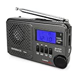 Retekess TR601 AM FM Radio Portable Shortwave Radio Transistor Digital DSP Battery Operated Radio Support TF Card USB Disk for Walking Jogging(Black)
