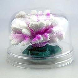Muranba Aquarium Luminous Flowers Coral Decoration Aquarium Landscape Coral Deco (Purple)