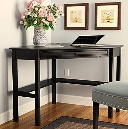 Amazon Com Corner Desk With Storage Drawer And Shelves