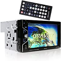 Gravity VGRD-800BT Double DIN Bluetooth DVD/CD/AM/FM Car Stereo w/ 6.2 Digital LCD TFT Touchscreen