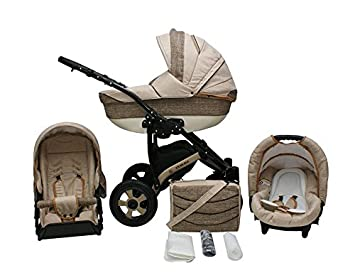 Lux4kids Venezia Kinderwagen Komplettset Autositz Adapter
