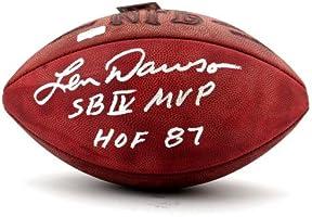 186d9d948 Len Dawson Signed Wilson Authentic Rozelle NFL Football with