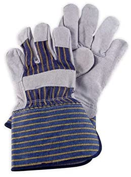 Men's Leather Work Gloves - Gauntlet Cuff - 3107 - by Wells Lamont - Size S
