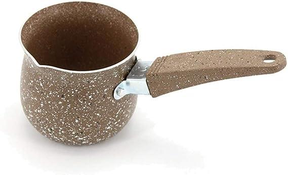 Wewin - Cafetera turca de aluminio de plástico para cocinar leche, utensilio para olla caliente: Amazon.es: Hogar
