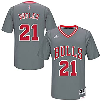 6d6a16ad2 ... Amazon.com Chicago Bulls Youth Jimmy Butler 21 adidas Gray Pride  Swingman Jersey L 1416 ...