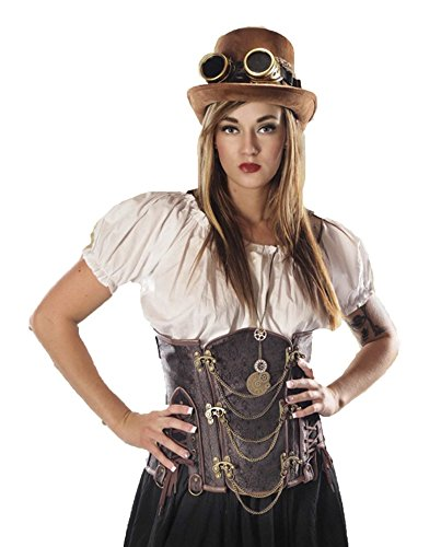 [Women's Costume Crop Top (XX-Large)] (Plus Size Saloon Bartender Costumes)