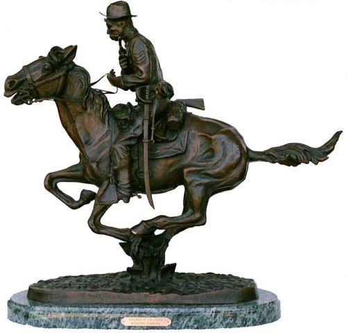 - Trooper Of The Plains Bronze Sculpture Statue By Frederic Remington Mediumi Size 13.5 inch Tall