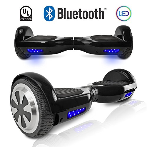 Cho  Recommended  Hoverboard   Ul Certified Electric Smart Self Balancing Scooter With Built In Bluetooth Speaker  Black