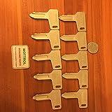 10 PCS 301 Keys Fit Yanmar Kubota Mini-Excavator Takeuchi John Deere Ind RG60472 N4