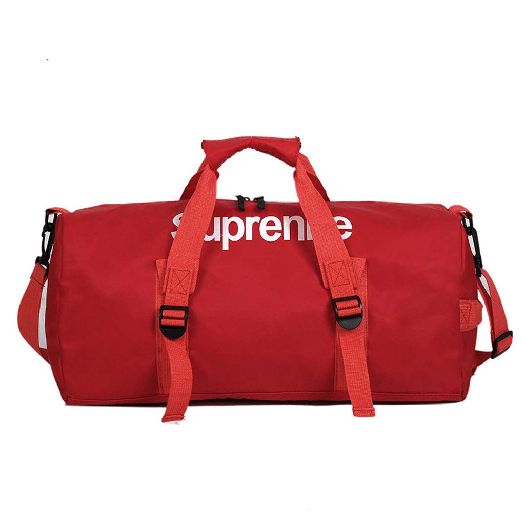 Portable Short Travel Bag Sports Gym Bag-Men and Women Korean Version Lightweight Simple Large-Capacity Luggage Bag (Color : Blue) ERTY