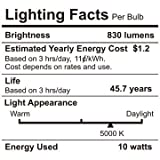 """10W 4"""" Ultra-thin Recessed Ceiling Light with Junction Box, Dimmable Can-Killer Airtight Downlight, 650lm 80W Equivalent ETL-listed and Energy Star Certified, 5000K Daylight, Pack of 6"""