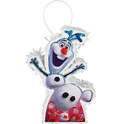 "Frozen 2 Birthday, Mini Olaf Pinata Decoration, 5"" x 7"" x 2"": Toys & Games"