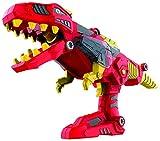 DinoBlaster 2 in 1 Transforming Dinosaur Toy Blaster TG662 – Build & Take Apart Cool Tyrannosaurus Rex Dinosaur Toy for Boys & Girls Aged 3+ By ThinkGizmos (Trademark Protected)