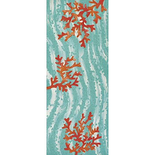 Liora Manne ILUR5326504 Illusions Casual Coral Wave Indoor/Outdoor Runner Rug, 23