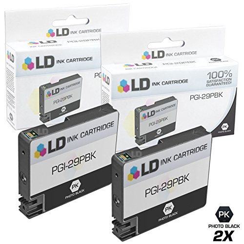 LD Compatible Ink Cartridge Replacement for Canon PGI-29PBK (Photo Black, 2-Pack)