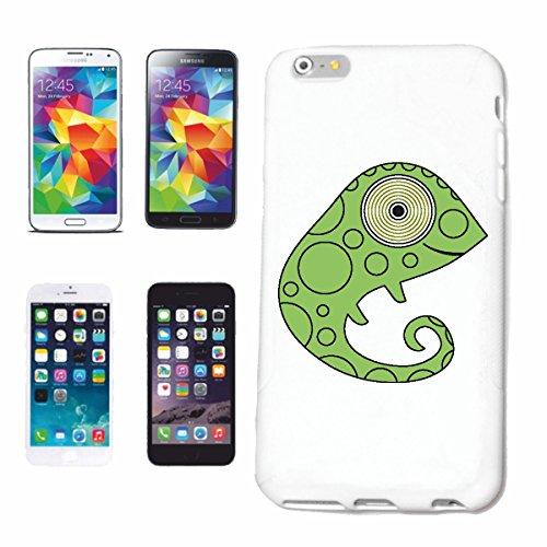 """cas de téléphone iPhone 6S """"PETITE DOUX LEGUAN CAMELION LIZARD CHAMELEON COULEUR LIZARDS CHANGE LEZARD"""" Hard Case Cover Téléphone Covers Smart Cover pour Apple iPhone en blanc"""