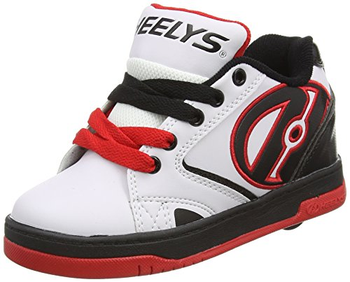 Heelys Propel 2.0 Sneaker (Little Kid/Big Kid), White/Black/Red, 13 M US Little Kid by Heelys