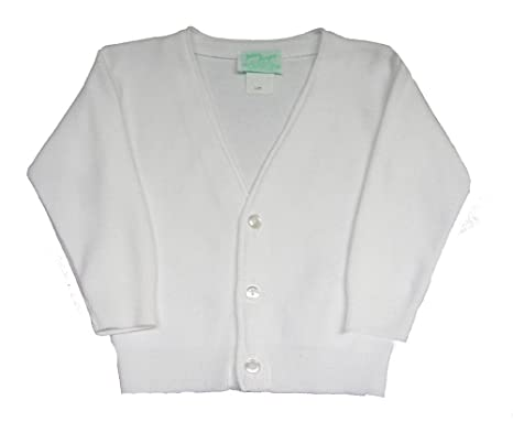 0b53e9daf Amazon.com  Julius Berger Boys Classic White Cardigan Sweater Infant ...