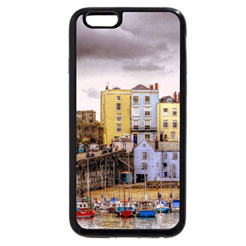 iPhone 6S Case, iPhone 6 Case (Black & White) - lovely tenby harbour wales in color hdr