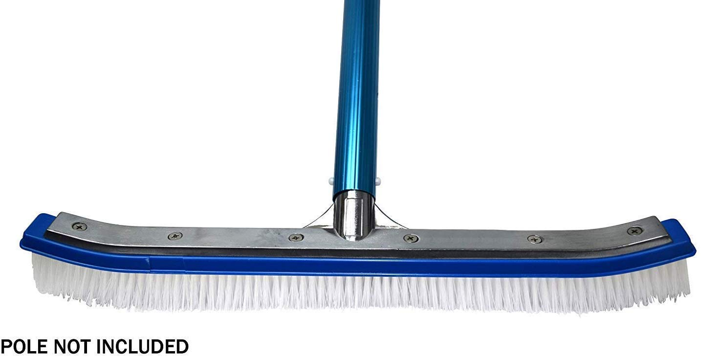 Blue Devil Pool Wall Brush Deluxe with Poly Bristles - 18'' (Тwo Рack) by Blue Devil