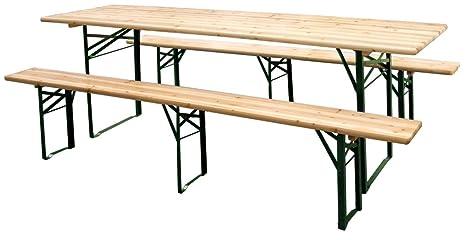 Gambe Pieghevoli Per Tavoli Birreria.Sf Savino Filippo Set Birreria In Legno Tavolo E 2 Panche Pieghevole