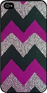 Purple, Black and Silver Glitter Chevron For SamSung Galaxy S3 Phone Case Cover Universal-Hard Black Plastic