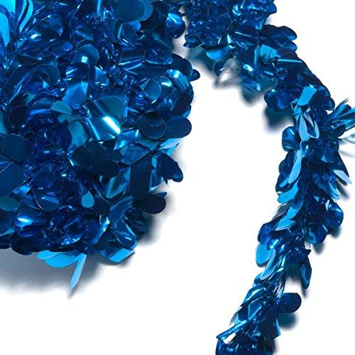 (TCDesignerProducts Blue Metallic Petal Festooning, 4 Inches x 48 Feet, Pack of 2)