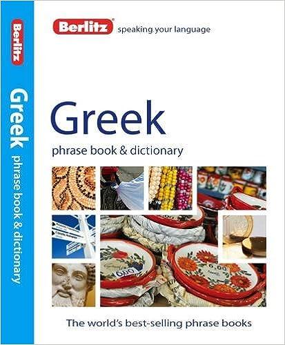 Book Berlitz: Greek Phrase Book & Dictionary (Berlitz Phrasebooks)
