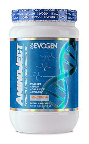 Evogen AminoJect | Vegan Fermented Plant Based BCAA, Glutamine, Citrulline Powder | Cali-Time Tea | 30 Servings