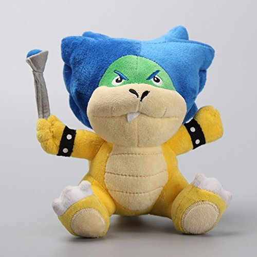Super Mario Bros Ludwig Koopa Koopaling 7 Inch Toddler Stuffed Plush Kids Toys