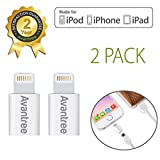 [Apple MFi certified] 2 Pack Avantree 8 Pin Lightning to Micro USB Adapter Converter for iPhone iPad iPod, Compatible with Apple iOS all versions