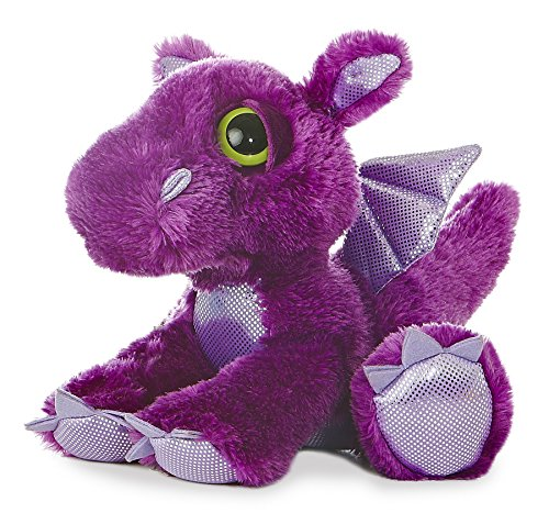 Aurora World Dreamy Eyes Plush Flame Purple Dragon, 10