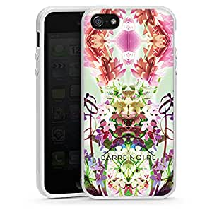 Apple iPhone 5 Case Shell Cover Silicone Case white - Flowerful 5