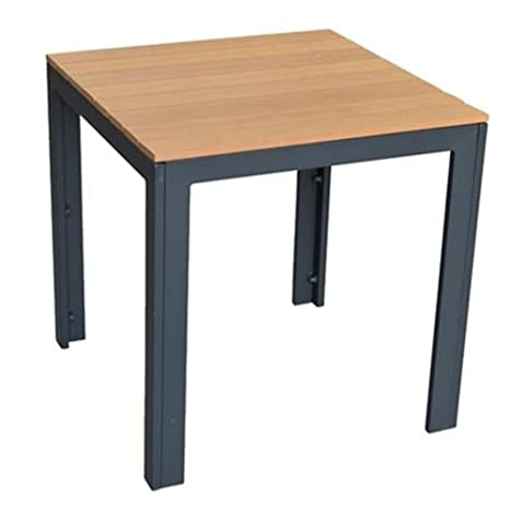 Petite table de jardin en aluminium imitation bois serra, 70 ...