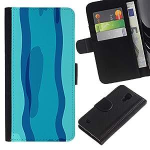 All Phone Most Case / Oferta Especial Cáscara Funda de cuero Monedero Cubierta de proteccion Caso / Wallet Case for Samsung Galaxy S4 IV I9500 // Swimming in Blue day