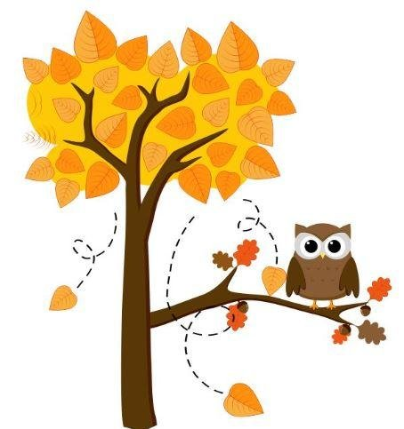 Vinyl Wall Decal Sticker : Owl On A Fall Tree Bedroom Bathroom Living Room Picture Art Peel & Stick Mural Size: 20 Inches X 30 Inches - 22 Colors Available