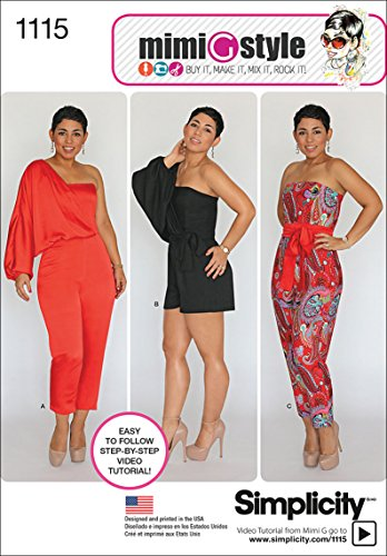 - Simplicity 1115 Women's Jumpsuit Romper Sewing Pattern by Mimi G, Sizes 16-24
