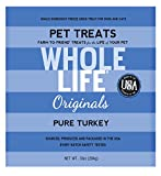 Whole Life Pet Single Ingredient USA Freeze Dried Turkey Breast Treats Value Pack for Dogs and Cats - 10-Ounce