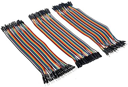 VIPMOON 120pcs Multicolored Dupont Wire 40pin Male to Female 40pin Male to M...
