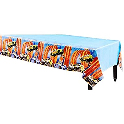Hot Wheels Wild Racer Plastic Table Cover, Party Favor: Kitchen & Dining