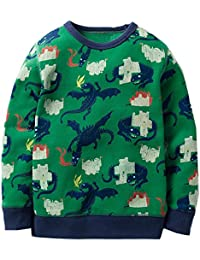 Baby Boys Sweatshirts Cotton Cartoon Kids Long Sleeves...