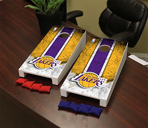 Victory Tailgate Los Angeles LA Lakers NBA Desktop Mini Cornhole Game Set by Victory Tailgate